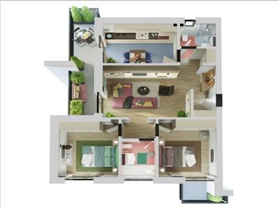 Ansamblu rezidential nou - apartamente premium cu 2 si 3 camere